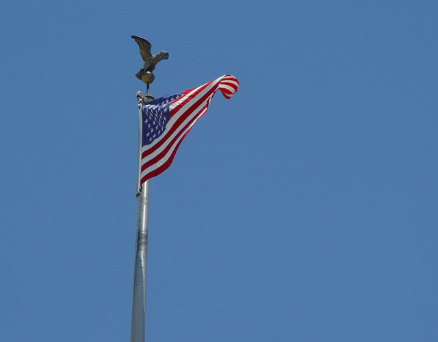 United States flag with eagle